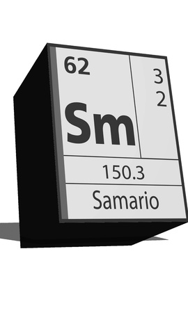 dissolved: Chemical element of the periodic table  Symbol Sm Illustration