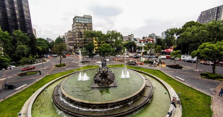 Fuente de Cibeles, Mexico City. Stock Photo