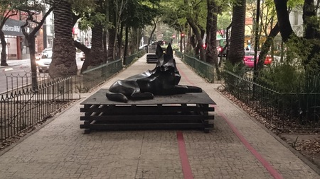 Beautiful sculpture on the street