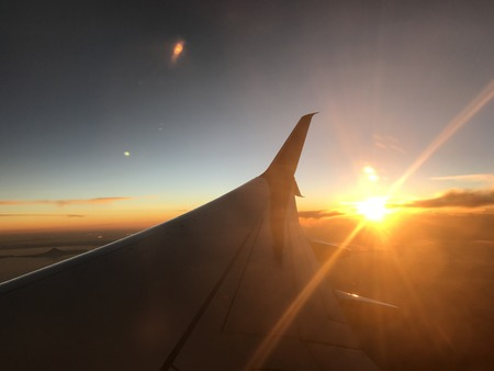 Sunset on a flight