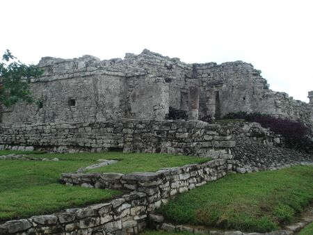Archaeological Zone of Tulum, Mexico 写真素材