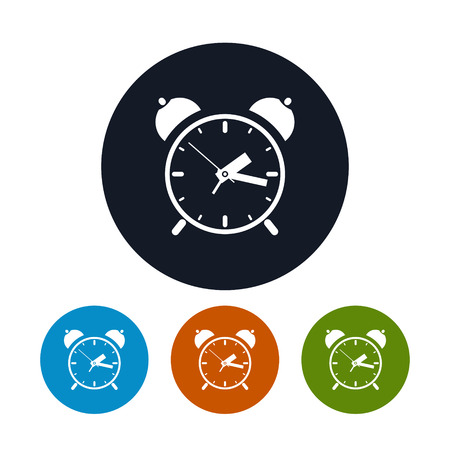 llegar tarde: El icono del reloj de alarma