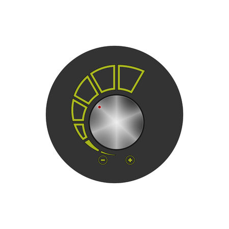 control power: Colorful round icon volume control, power control icon, vector illustration Illustration