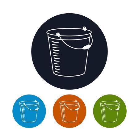 bucketful: Icon bucket , the four types of colorful round icons bucketful, vector illustration Illustration