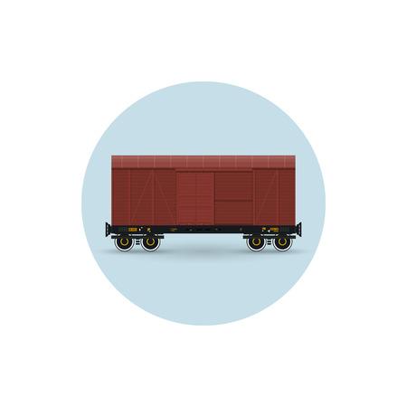 precipitaci�n: Icono del coche de carga cubierta para el transporte de mercanc�as, la protecci�n exigiendo contra las precipitaciones atmosf�ricas, ilustraci�n vectorial