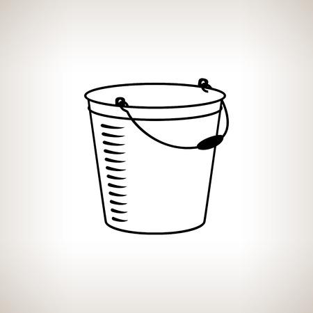 bucketful: Silhouette  bucket, silhouette bucketful on a light background,  black and white  vector illustration Illustration