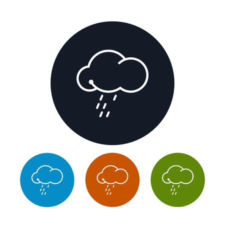 torrential rain: Icon cloud  with the rain