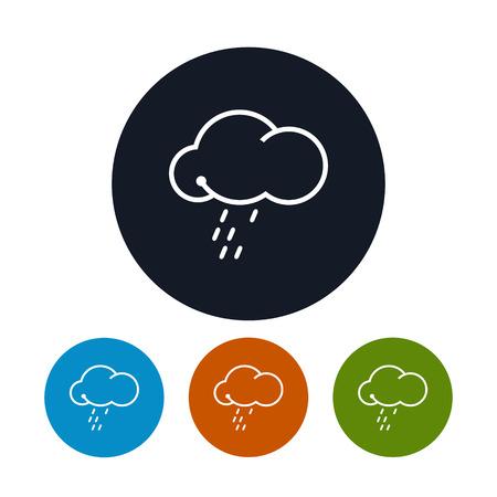 drench: Icono de la nube con la lluvia
