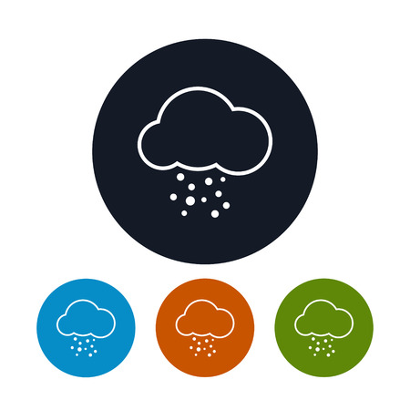 hail: Icon cloud with hail