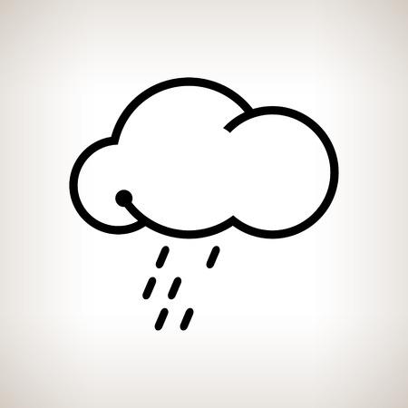 drench: Nube silueta con la lluvia sobre un fondo claro