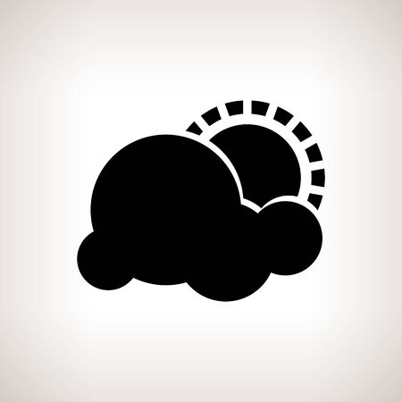 atmospheric: Silhouette partly cloudy Illustration