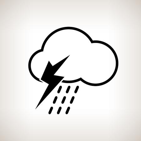 thunderstorm: Silhouette thunderstorm