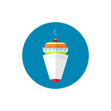 Icon cruise ship, a front view of the passenger ship, vector illustration Vector