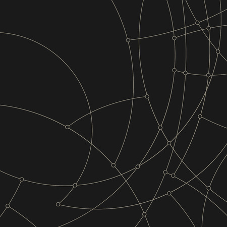 unfinished: Abstract geometric pattern of the curves, unfinished lines, circles, abstract data type, vector illustration