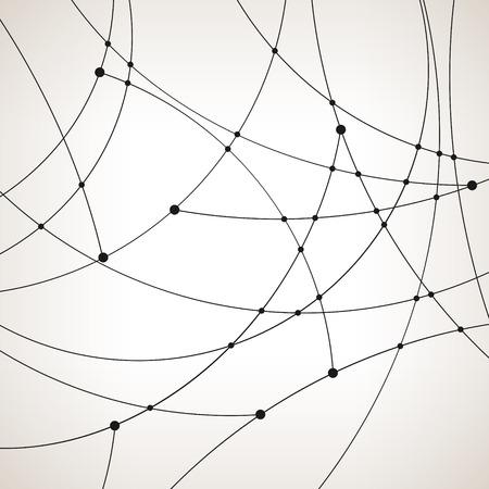 unfinished: Modelo abstracto geom�trico de las curvas, l�neas inacabadas, nodos, tipo de datos abstracto, ilustraci�n vectorial
