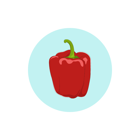 peper: Icon red bell pepper,icon sweet pepper, icon capsicum , vector illustration