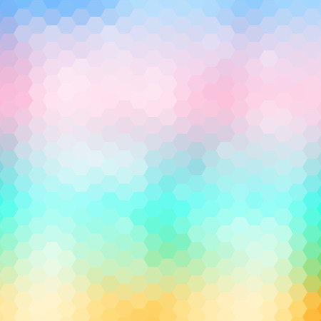 ソフト色の抽象的な幾何学的なモザイクの背景、ベクトル イラスト