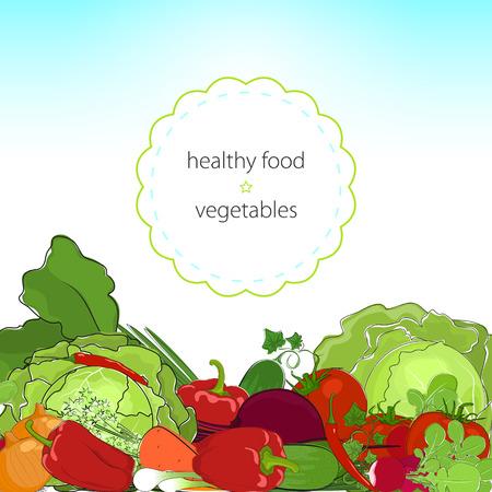 rindfleisch roh: Gesunde Nahrung, frischem rohem Gem�se, Bio-Lebensmittel, Vektor-Illustration
