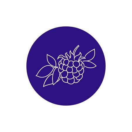 dewberry:  Colorful Round  Icon Dewberry