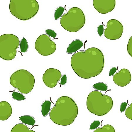 Seamless Pattern of Apple 일러스트