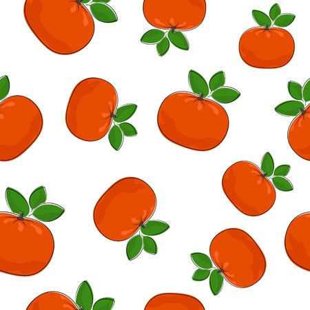 mandarin: Seamless Pattern of  Mandarin