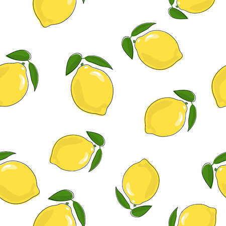Seamless Pattern of  Lemon 일러스트