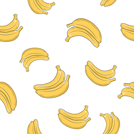Seamless Pattern of  Banana