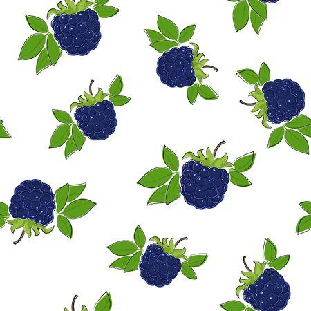 dewberry: Seamless Pattern of berry Illustration