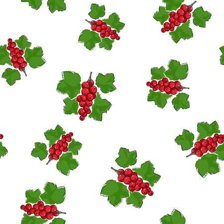 redcurrant: Seamless Pattern of Redcurrant