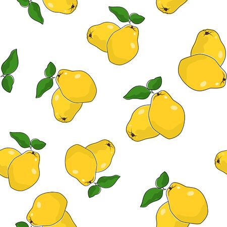 freshness: Seamless Pattern of  Quince