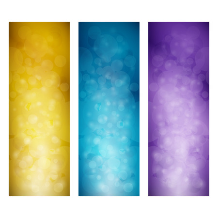 Set of Vibrant Vertical Banners, Modern Abstract Background with Sparkles, Vector Illustration Ilustração