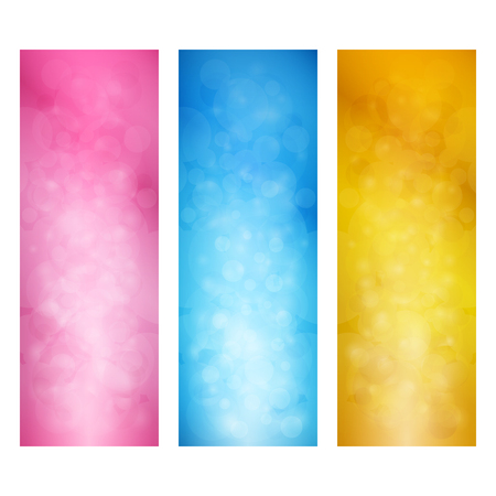 vertical banner: Set of Bright Vertical Banners, Modern Abstract Background with Sparkles, Vector Illustration