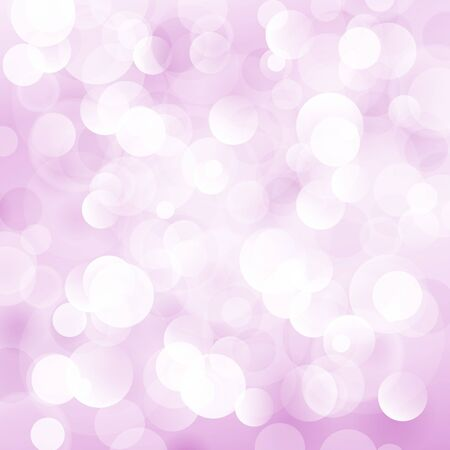 Soft  Bright Abstract Bokeh Background  in Shades of Pink, Soft Glow of the Sun , Defocused Lights, Vector Illustration
