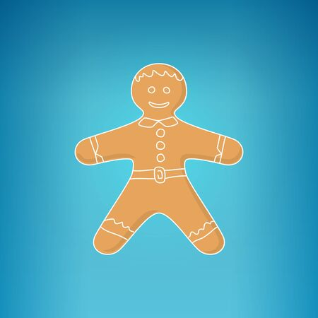 Christmas Gingerbread Man Decorated