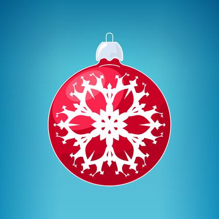 merrychristmas: Christmas  Ball with Snowflake