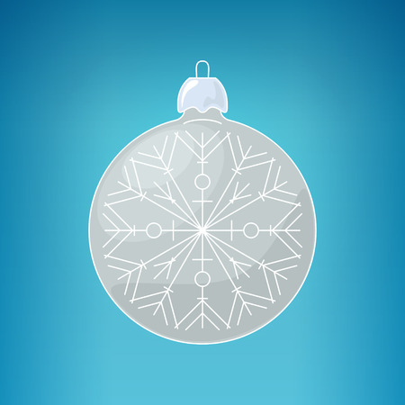 merrychristmas: Christmas Silver Ball with Snowflake