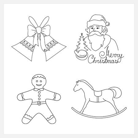 gingerbreadman: Set of Christmas Icons