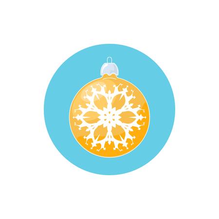 merrychristmas: Colorful Icon Christmas Ball with Snowflake