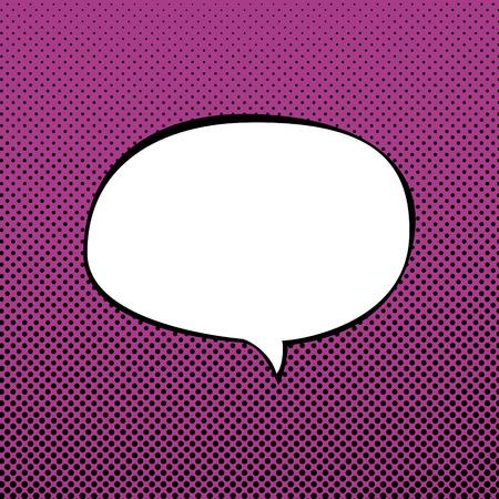 speech cloud: Speech Bubble on Pink Background with Black Dots ,Speech Bubble on Pop Art Background, Speech Bubble on Halftone Background, Retro Style, Vector Illustration