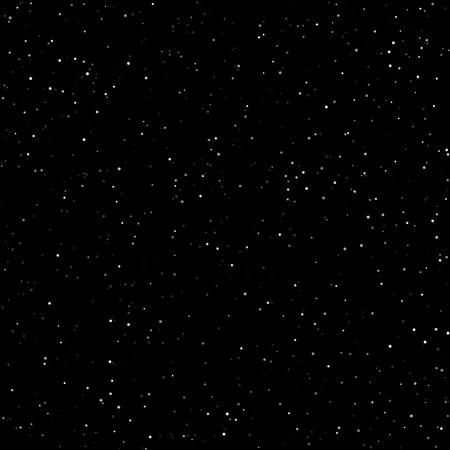 Night Sky with Stars, Starry Night Sky, Snow in the Night Sky, Vector Illustration Stock Illustratie