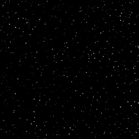 gaseous: Night Sky with Stars, Starry Night Sky, Snow in the Night Sky, Vector Illustration Illustration