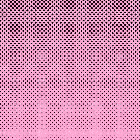 gradation art: Pop Art Background,  Black Dots on Pink Background,Halftone Background,  Retro Style, Vector Illustration