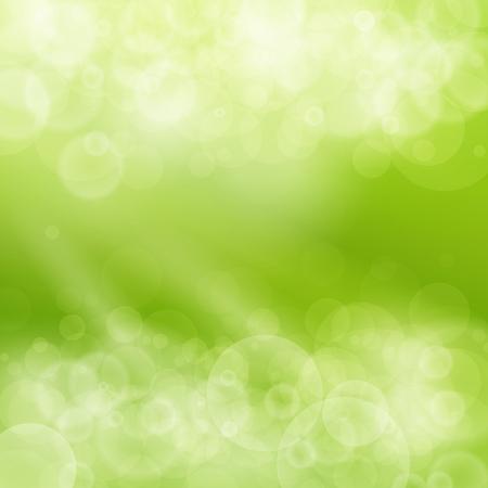 多重照らす太陽のイラストの緑抽象的な背景のボケ味、春背景には、柔らかな輝き