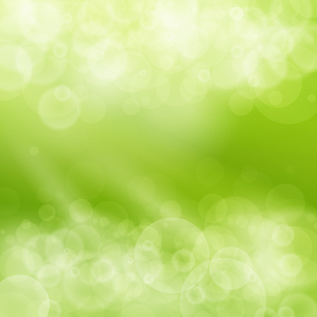 fondo: Resumen de fondo verde de Bokeh, Fondo de primavera, suave resplandor del sol, desenfocado, luces, Ilustración Vectores