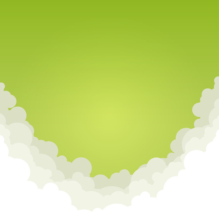 greens: Abstract Green Background with Clouds,  View of the Greens from the Clouds, Vector Illustration