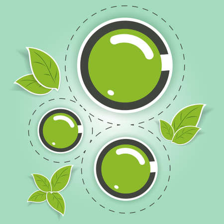 ecofriendly: Beautiful eco-friendly green circles with leaves of the tree
