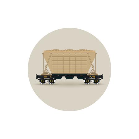 hopper: Icon hopper car for mass transit fertilizer, cement, grain and other bulk cargo