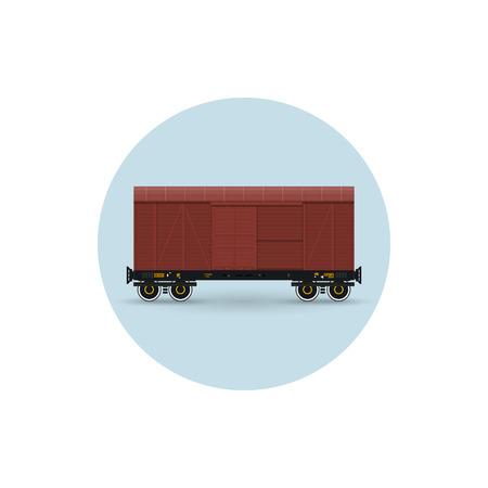 precipitacion: Icono del vagón de mercancías cubierto para el transporte de mercancías, la protección contra exigente precipitaciones atmosféricas