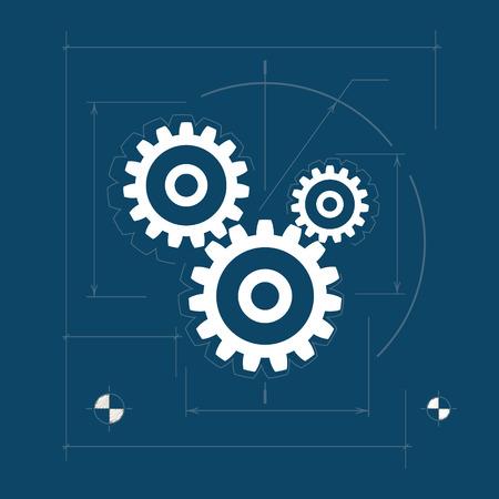 Gears  ,Teamwork , Joint Effort, Team Effort, Logo Design Element, Vector Illustration