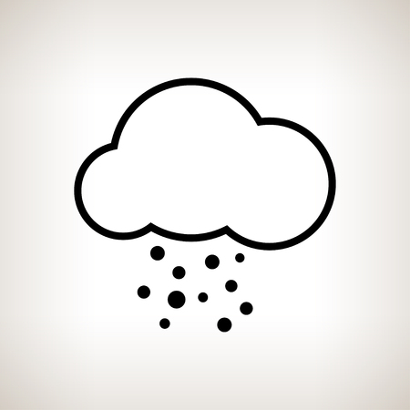 hail: Silhouette cloud with hail  on a light background , black and white   illustration Stock Photo